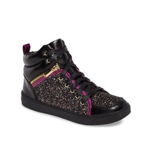 2fc400fcde2612 Sam Edelman Britt Remy Glitter High Top Sneakers
